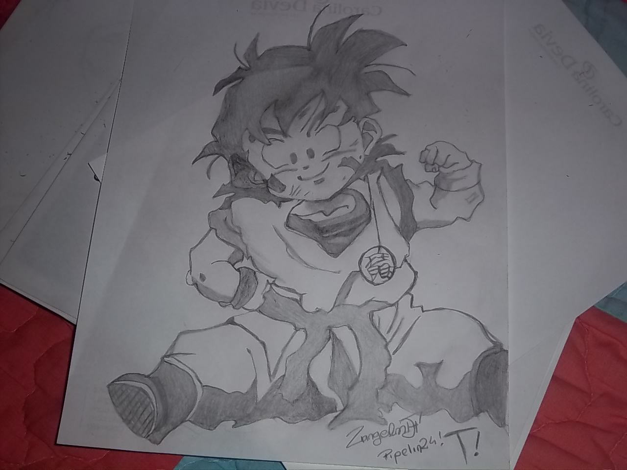 Dibujo a lapiz de Gohan