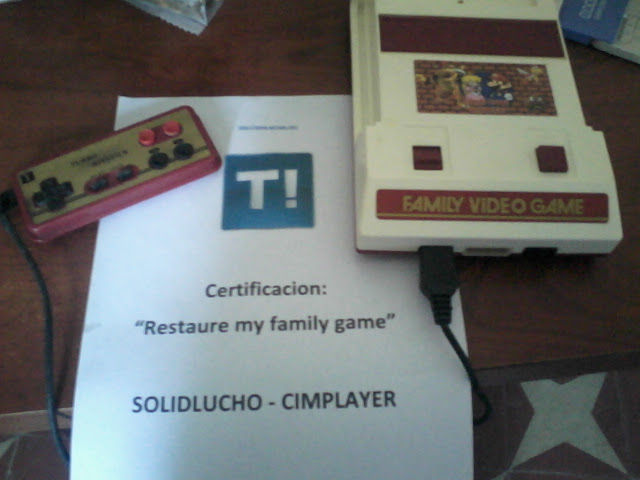 "Restaure Mi ""Family Game"" y te lo muestro."