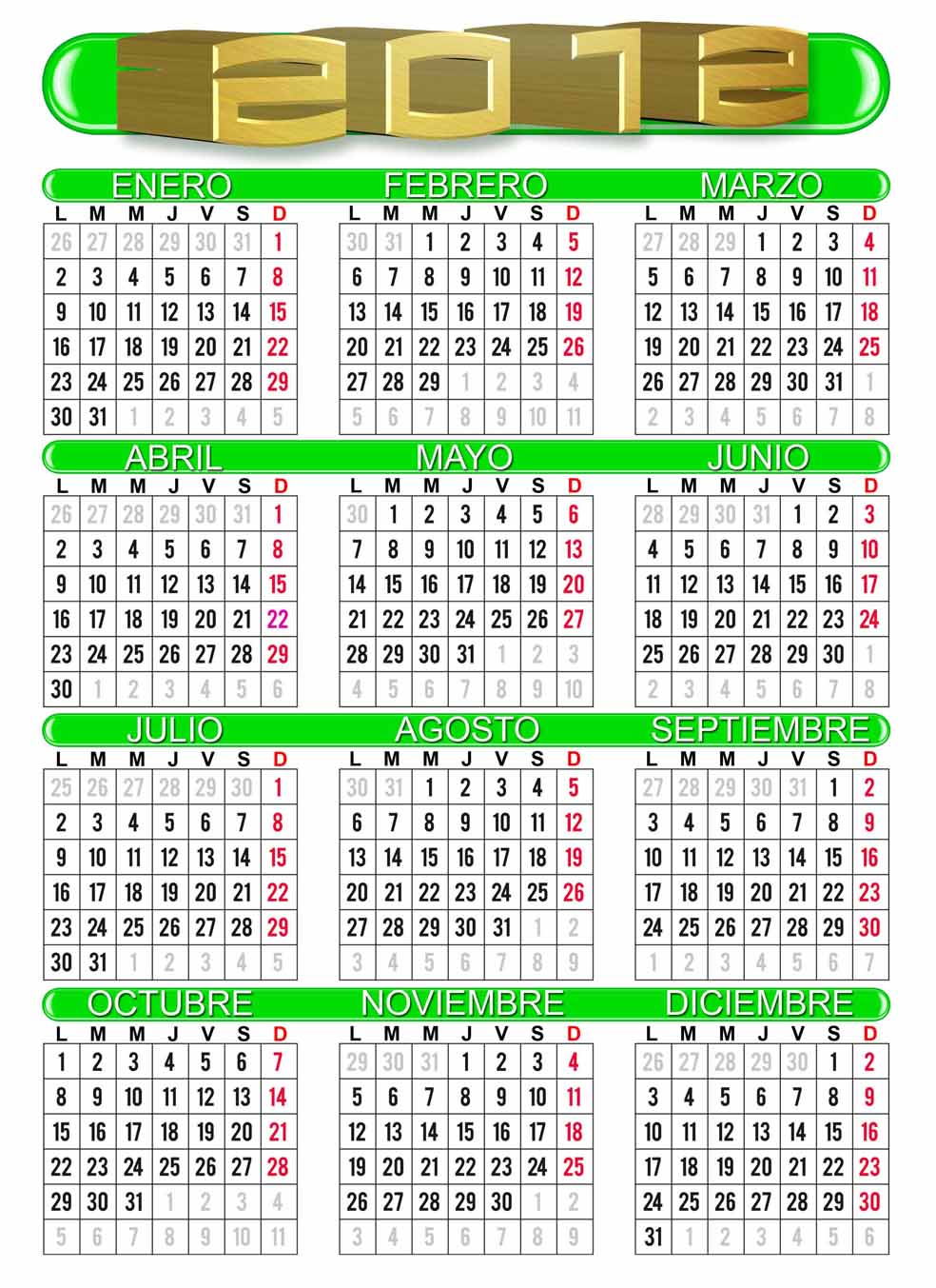 Calendario 2012 para guardar e imprimir im genes for Horario peru wellness